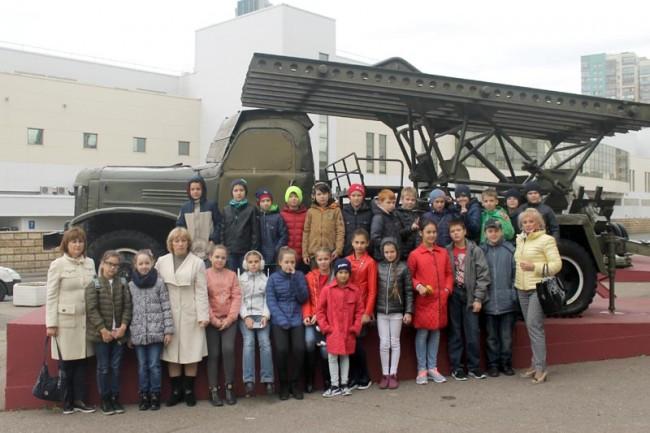 Воспитанники школы №1542 побывали на экскурсии в Музее обороны Москвы