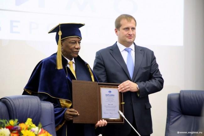 Президент Гвинейской республики стал Почётным доктором МГИМО