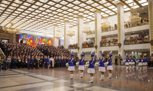 3 октября в Музее Победы прошла церемония принятия клятвы кадет московского Колледжа полиции