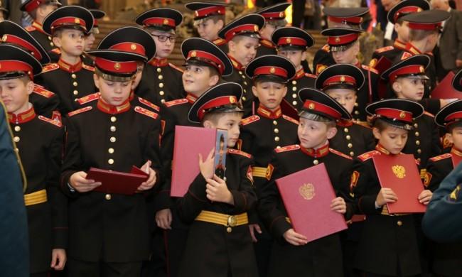 В Музее Победы приняли присягу воспитанники Московского суворовского училища