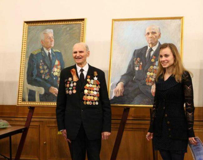 На выставке «Живая летопись войны» представлен портрет ветерана из Ново-Переделкино