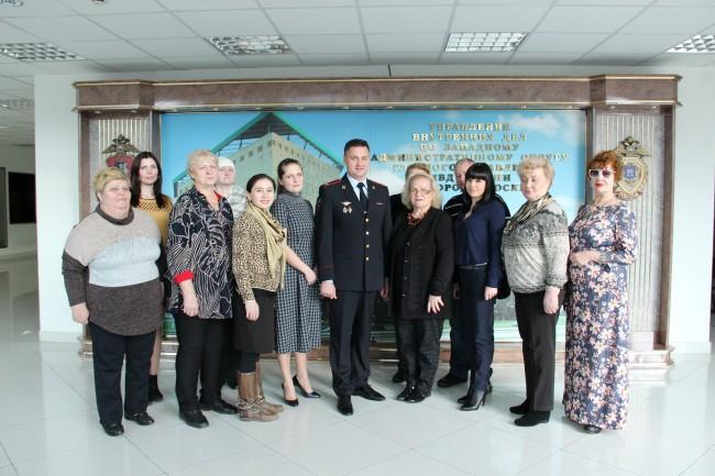 Руководство УВД по ЗАО встретилось с вдовами погибших сотрудников
