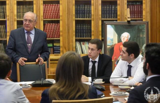 Ректор МГУ встретился с председателями студенческих советов факультетов