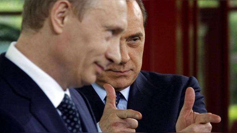 Times: Берлускони напомнил Путину о дружбе постельным бельём