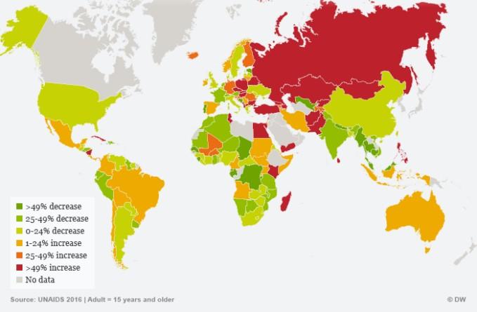 ВИЧ получает быстрое распространение в России из-за нетерпимости и дискриминации