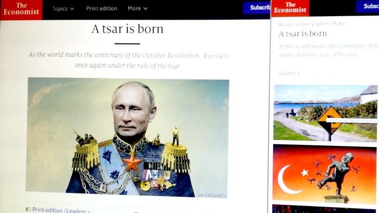 Economist увидел в Путине нового царя России