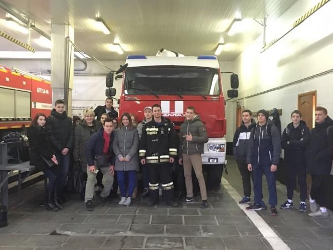 Студенты посетили пожарно-спасательную часть ЗАО