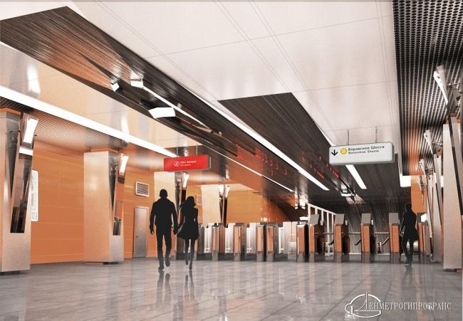 Завершается отделка гранитом платформы станции метро «Боровское шоссе»