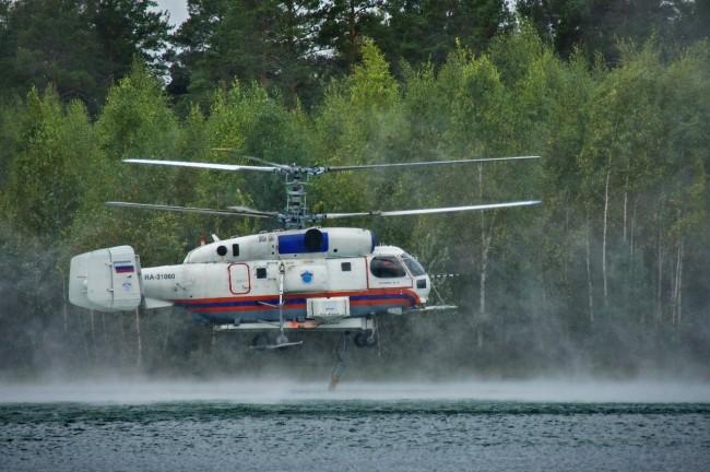 Новый пожарный вертолет заступил на дежурство в столице