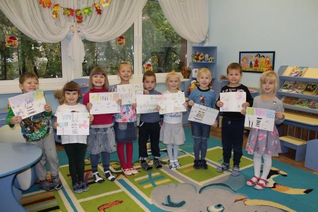 Сотрудники Госавтоинспекции Западного округа провели с дошкольниками конкурс рисунков