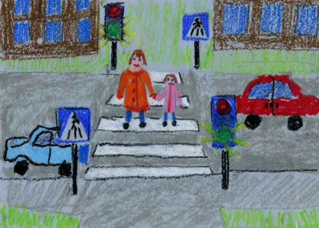 Сотрудники Госавтоинспекции ЗАО провели конкурс рисунков среди  дошкольников