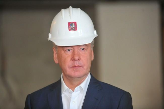 Собянин осмотрел ход строительства станции метро «Селигерская»