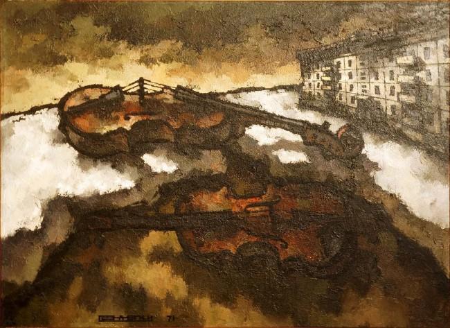 В «Мастерской Петра Фоменко»  открылась  выставка Оскара Рабина