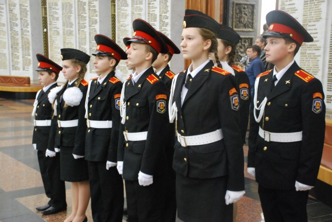 10 ноября ученики школы № 1002 побывали на «Уроке мужества» в Музее Победы