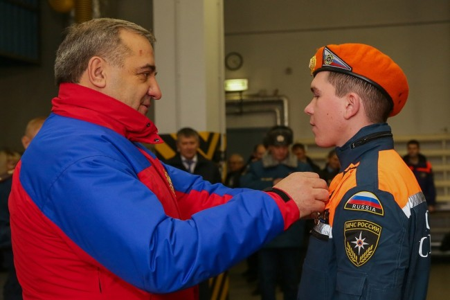 Владимир Пучков посетил 4 пожарно-спасательную часть ЗАО