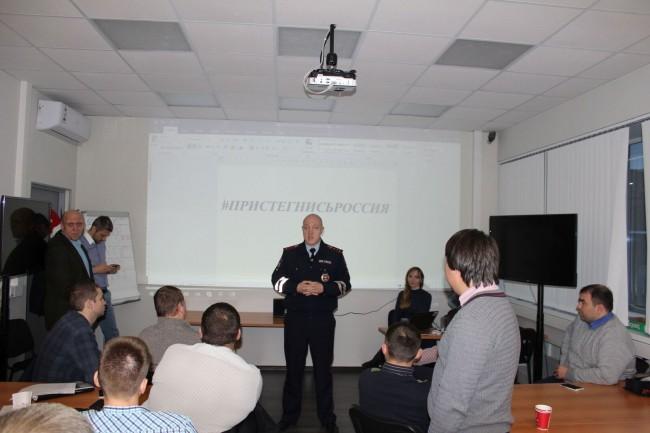 Сотрудники ГИБДД ЗАО г. Москвы провели инструктаж с водителями