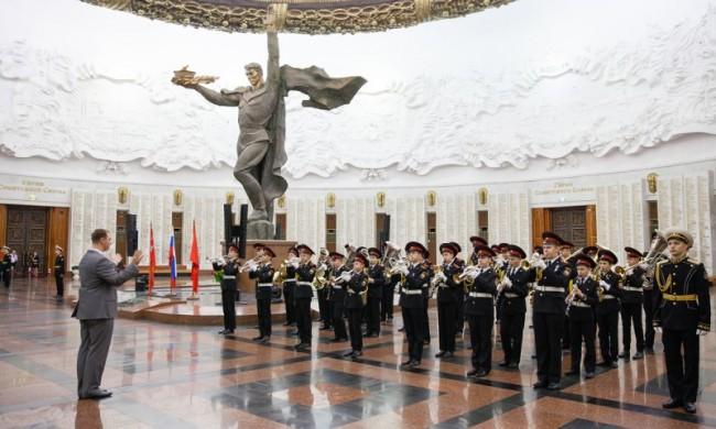 Учащиеся школы №1770 дали клятву кадета в Музее Победы