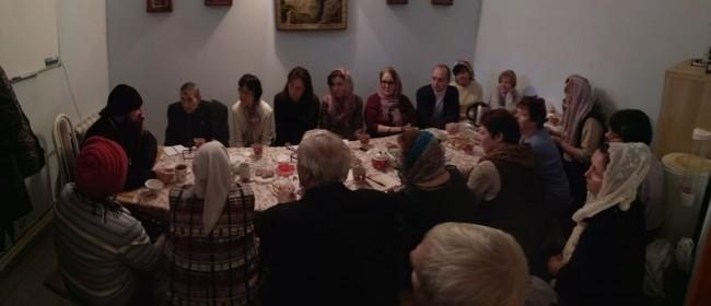 В храме Архангела Михаила в Тропарево состоялась встреча с батюшкой из Канады
