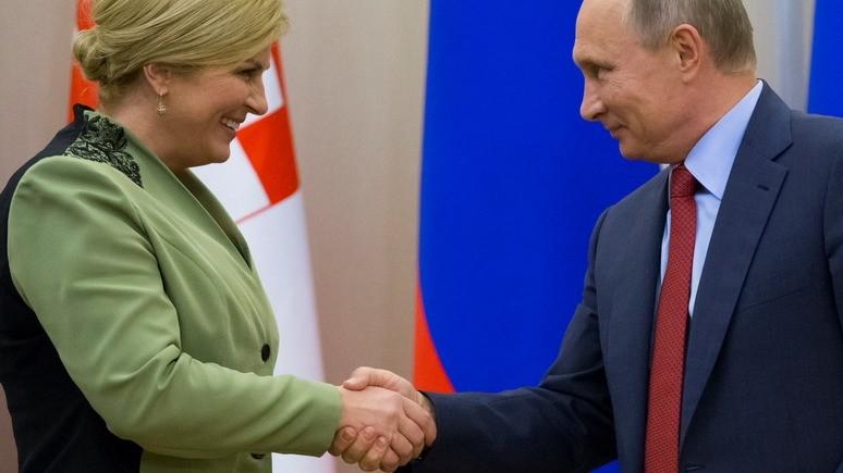 Хорватский политик: Хорватия совершит ошибку, если не пожмёт руку, протянутую Путиным