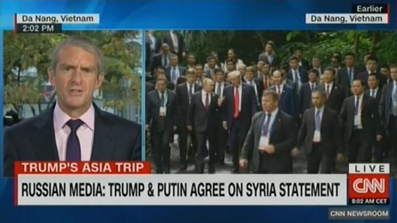 CNN: Трамп и Путин толком не побеседовали, но согласились продолжить борьбу с ИГ