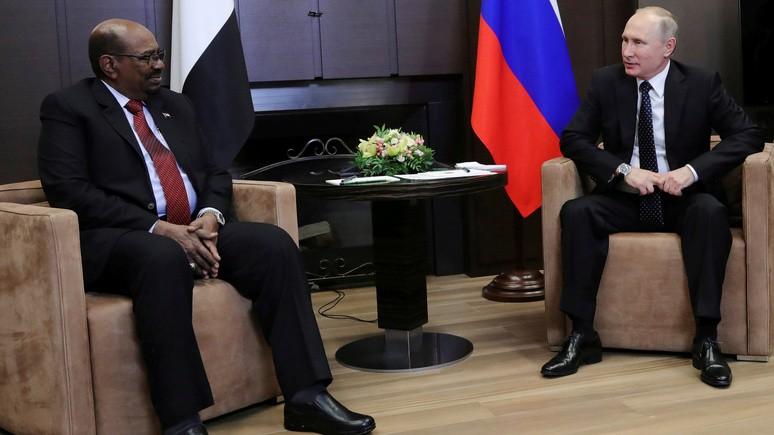ORF: президент Судана попросил у Путина защиты от «агрессии США»