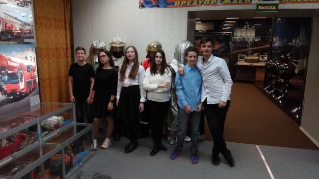 Школьники ЗАО посетили Музей пожарной охраны Москвы