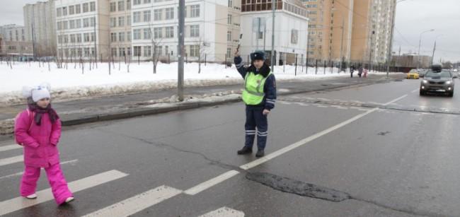 Госавтоинспекция Западного округа проводит окружной рейд «Пешеход»
