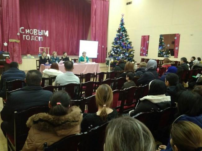 Сотрудники МЧС принимают участие в родительских собраниях