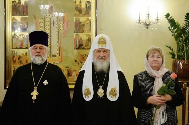 Патриарх Кирилл вручил церковные награды клирикам Москвы, отмечающим в этом году памятные даты
