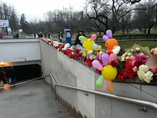 Место аварии у станции метро «Славянский бульвар» сегодня