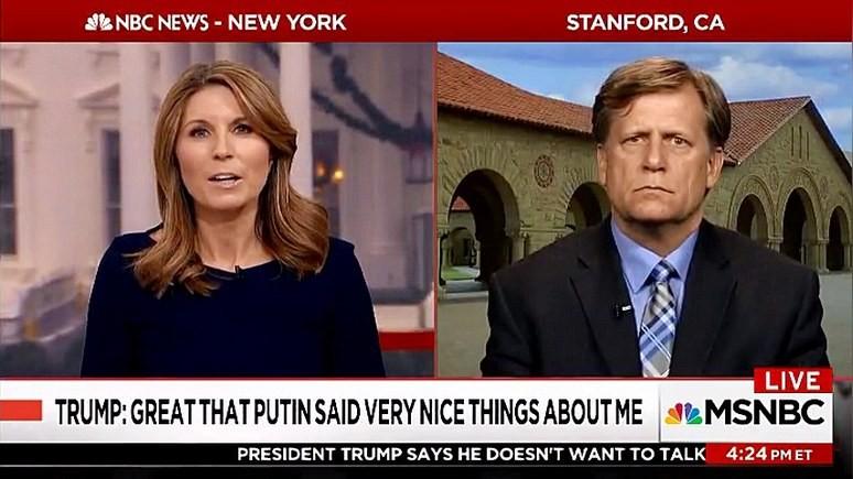 MSNBC: Макфола шокировал звонок Трампа Путину — не служит интересам Америки