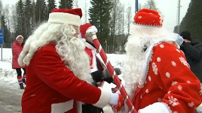 Yle: Дед Мороз и Йоулупукки пожелали россиянам и финнам счастья в Новом году