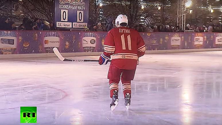 Frankfurter Allgemeine удивляется: в хоккей Путин сыграл, а счёт не показали